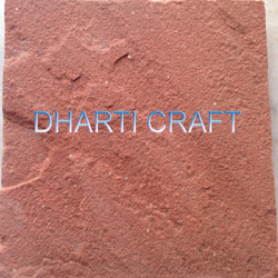 Red color sandstone from Agra used for patio paving