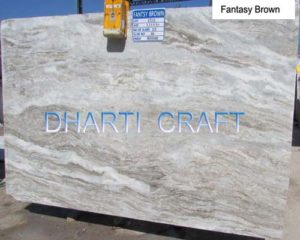 Fantasy brown quartzite light brown color marble slab for kitchen tops