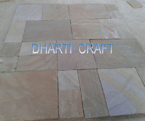 Buff paving slabs dry picture