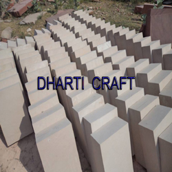 Beige color paving sandstone from Dholpur
