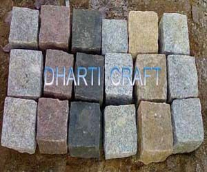GRANITE COBBLES for paving Color Black Yellow White Pink Grey