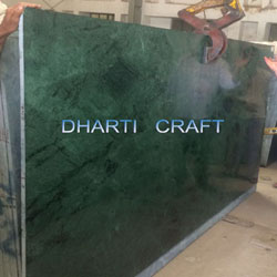 Indian Green Marble slab green in color polished top finish