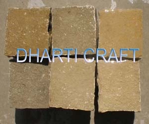 Kota brown cobblestone brown color limestone cobbles for exterior paving