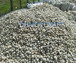 grey color river pebbles