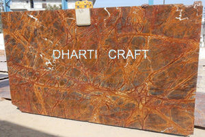 brown color marble slab rainforest-brown-marble