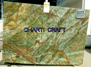Rainforest green marble tile