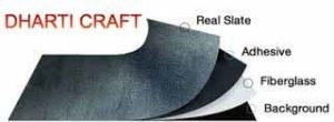 Thin and Flexible stone veneer sheets of Slate stone 2mm thin