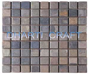 STONE MOSAIC TILE in square pattern type