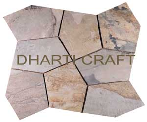 STONE MOSAIC TILE random flagging type