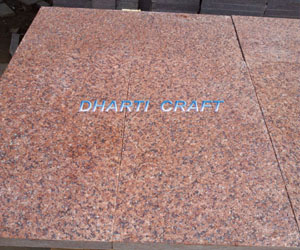 red Granite tiles India in fired finish to look rough