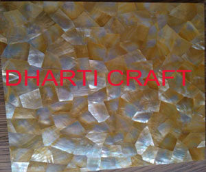 mother of pearl wall tiles yellow in color random pattern design