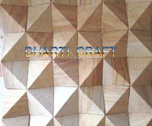 STONE MOSAIC TILE made of Teakwood in a special square patten
