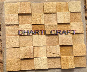 STONE MOSAIC TILE made of Teakwood sandstone in sanded finish