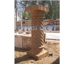 Indian Sandstone columns