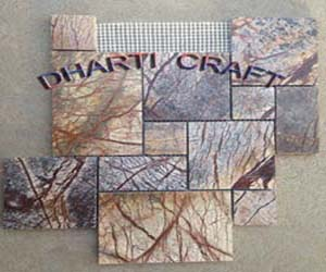 STONE MOSAIC TILE of Rainforest brown marble in versaillies pattern type